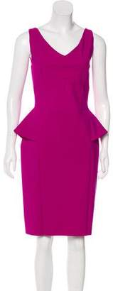 Chiara Boni Peplum V-Neck Dress