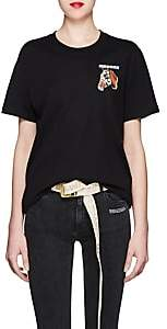 "Off-White Women's ""Modern"" Horse Cotton Crop T-Shirt"