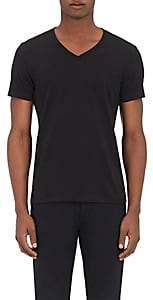 Barneys New York MEN'S JERSEY V-NECK T-SHIRT - BLACK SIZE S