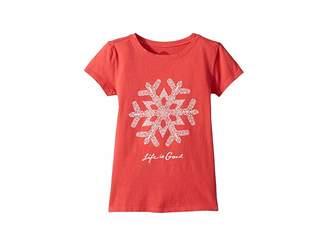 Life is Good Primal Snowflake Crusher T-Shirt (Little Kids/Big Kids)