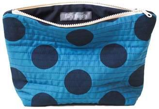 Lucy Engels Large Makeup Bag Big Spot Teal