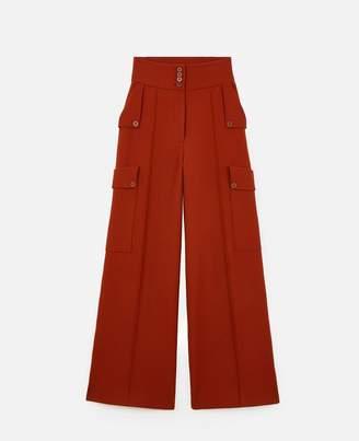 Stella McCartney Brushed Twill Tailored Pants, Women's