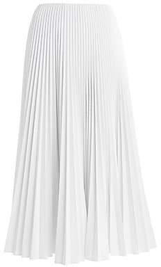 Fendi Women's Shiny Pleated Maxi Skirt