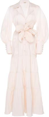 Johanna Ortiz Ring Of Fire Cotton-Blend Maxi Shirt Dress