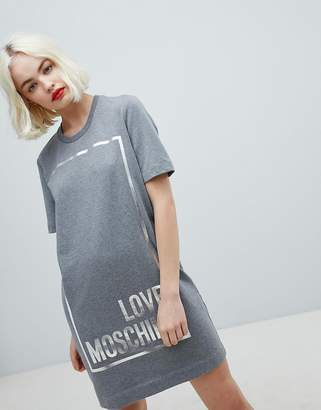 Love Moschino Square Logo T-Shirt Dress