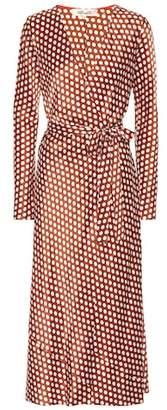 Diane von Furstenberg Polka-dot silk wrap dress