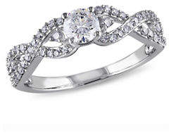 CONCERTO 0.75CT Diamond 14K White Gold Engagement Ring