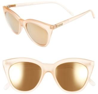Women's Le Specs Halfmoon Magic 51Mm Cat Eye Sunglasses - Raw Sugar $59 thestylecure.com