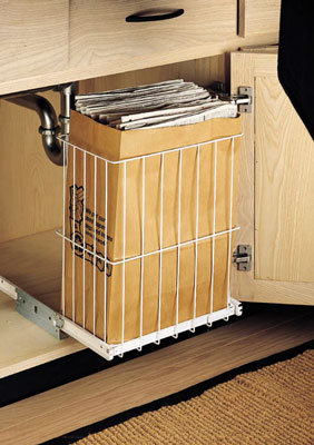 Wire Pull-Out Recycling Basket