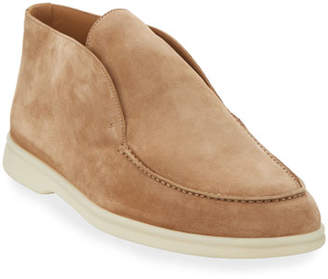 Loro Piana Men's Open Walk Suede Booties