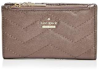 Kate Spade Reese Park Mikey Metallic Leather Wallet
