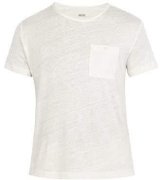 Hecho - Short Sleeved Linen T Shirt - Mens - Ivory