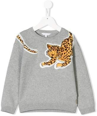 Little Marc Jacobs leopard appliqué sweater