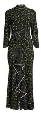 DAY Birger et Mikkelsen Rixo Lucy Mockneck Backless Floral Dress