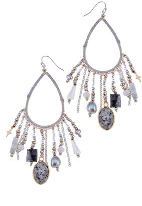 Nakamol Design Stone & Star Charm Earrings
