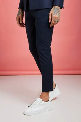 boohoo Plain Skinny Fit Cropped Suit Trousers