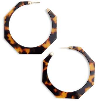 Gas Bijoux Tortoiseshell Resin Hoop Earrings