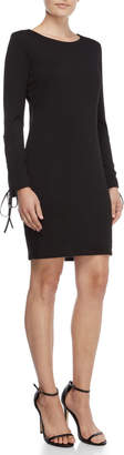 Vince Camuto Ribbed Lace-Up Sleeves Dress