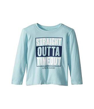 Life is Good Straight Outta Timeout Crusher Knit Tee (Toddler)