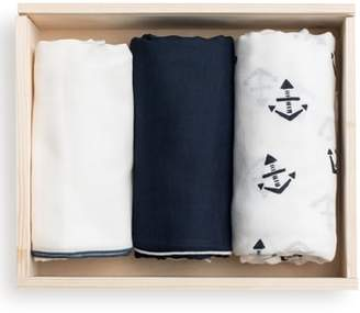 Lil Lemon by zestt 3-Pack Organic Cotton Muslin Swaddle Blankets