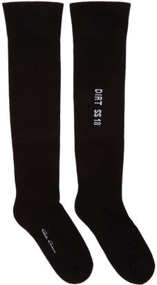 Rick Owens Black Over-The-Knee Socks