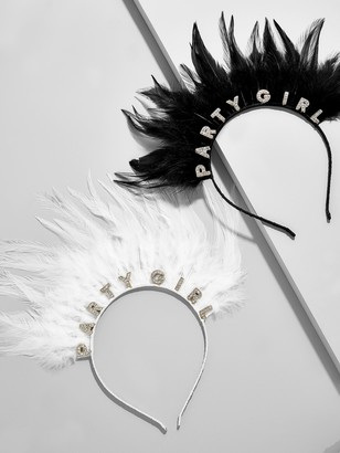 BaubleBar Party Girl Feather Headband Set