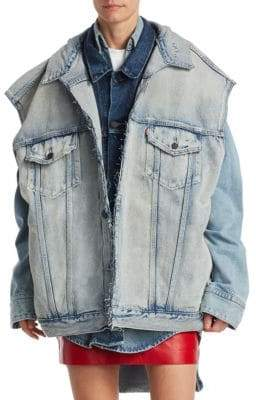 Vetements Denim Double Vest