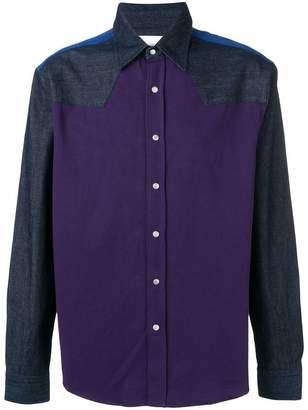 Calvin Klein Jeans western style block shirt