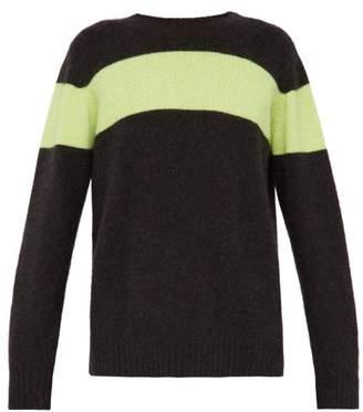 The Elder Statesman Racing Intarsia Stripe Cashmere Sweater - Mens - Grey Multi