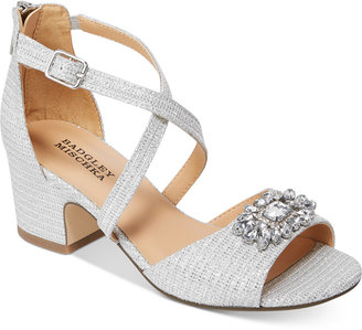 Badgley Mischka Pernia Gem Sandals, Little Girls (11-3) & Big Girls (3.5-7) $58 thestylecure.com