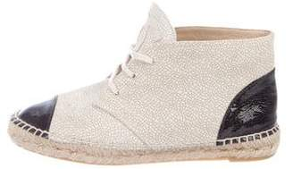 Chanel Leather Espadrille Sneakers