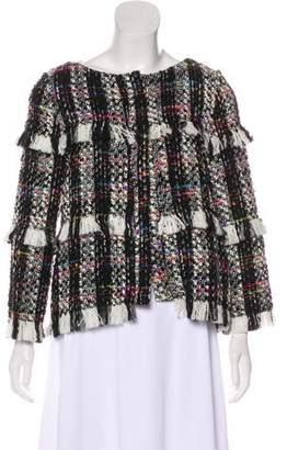 Shirtaporter Fringed Bouclé Jacket w/ Tags