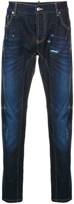 Les Hommes Urban distressed slim-fit jeans