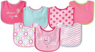 Luvable Friends 7 Piece Drooler Bibs with Waterproof Backing