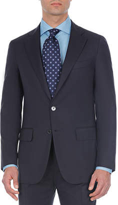 Isaia Comfort Solid Wool Two-Piece Suit