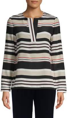Lafayette 148 New York Joan Striped Silk Tunic