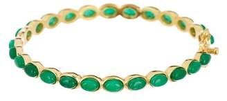 Forever Creations USA Inc. Gold Vermeil Emerald Classic Bangle