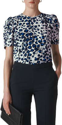 Whistles Brushed Leopard Print Shell Top