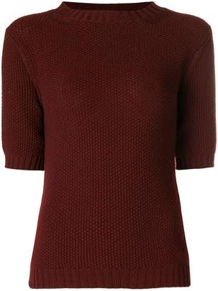 Holland & Holland short-sleeve fitted sweater