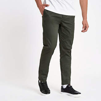 River Island Mens Khaki slim fit chino trousers