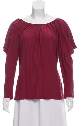 Jay Godfrey Long Sleeve Silk Blouse