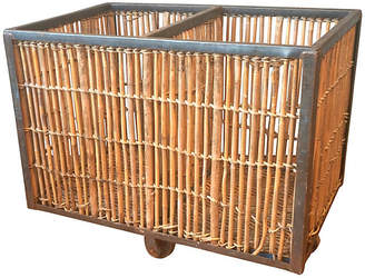 One Kings Lane Vintage Industrial French Bamboo Cart - Von Meyer Ltd.