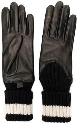 Agnelle ribbed detailed gloves