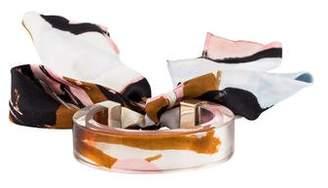 Christian Dior Lucite Scarf Cuff