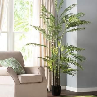 Beachcrest Home Silk Areca Palm Tree in Pot