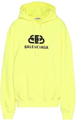 Balenciaga Logo cotton hoodie