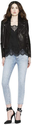 Alice + Olivia Cody Cropped Leather Jacket