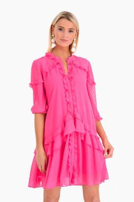 Saloni Pink Tilly Ruffle Dress