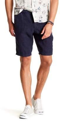 Benson Print Linen Shorts