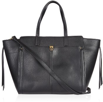 Topshop Topshop Harlow Winged Faux Leather Satchel - Black